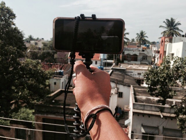 Holding iPhone with a tripod