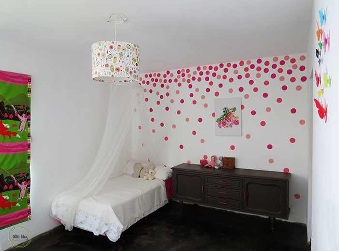 How to paint a polka dots wall - Ohoh deco