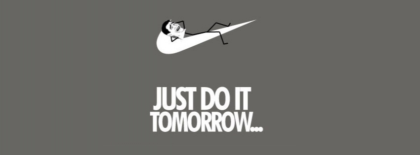 A very funny just do it funny Facebook cover photo