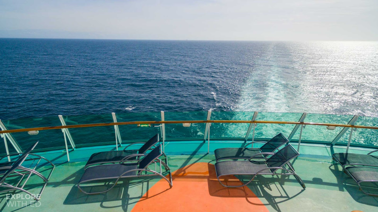 Cruise Ship sun loungers