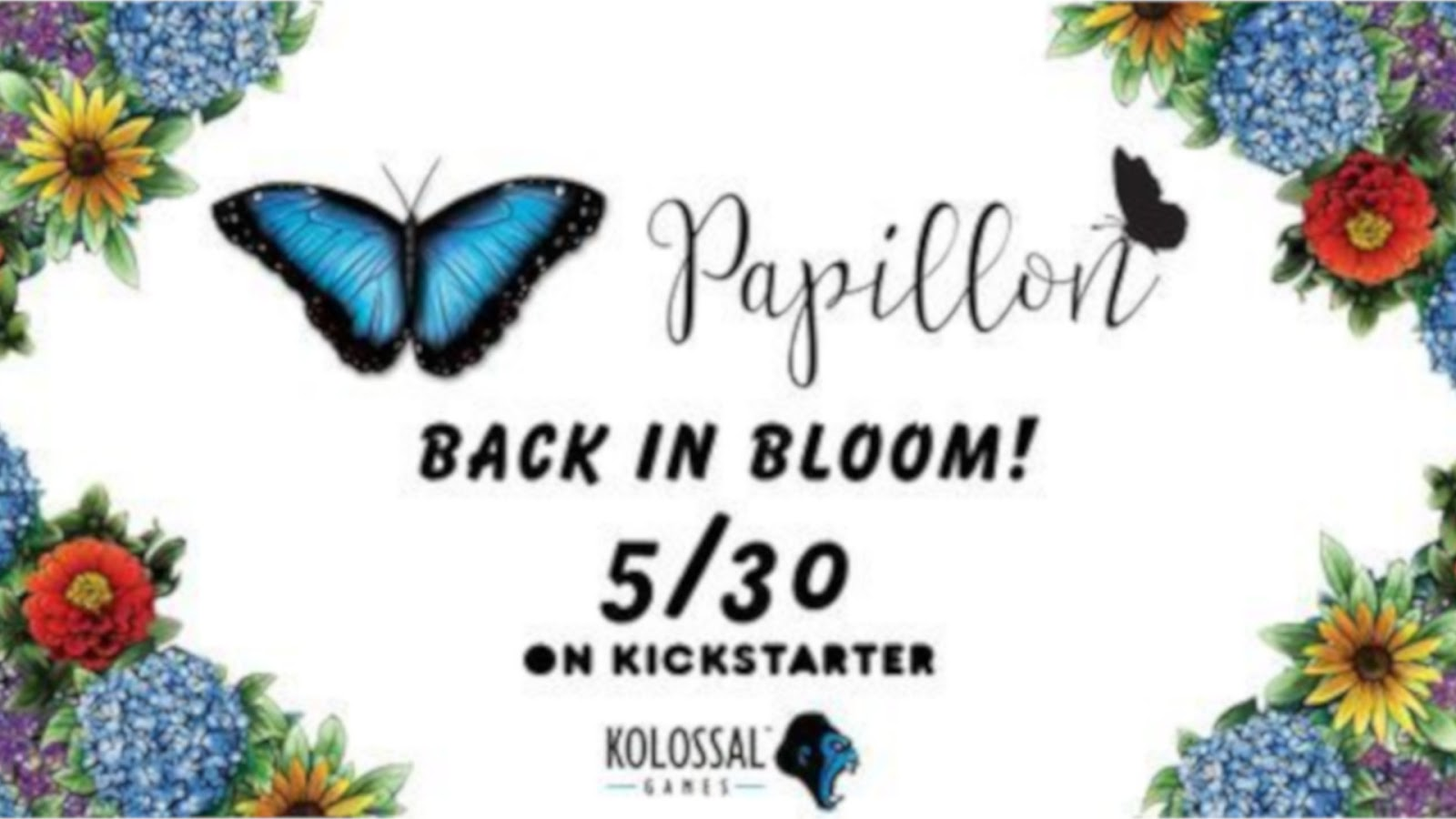 News Collider Kolossal Games Papillion Back to Kickstarter