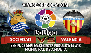 Prediksi Real Sociedad vs Valencia 25 September 2017