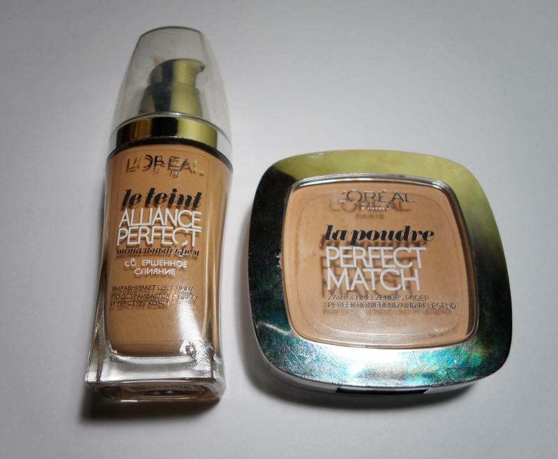 L`oreal foundation powder swatches blogger