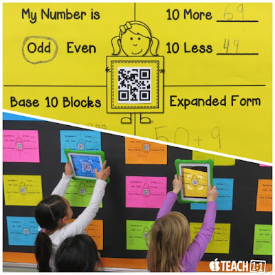 Best FREE place value apps & activities for kids to use on the iPad. Teachers, make teaching place value easier on yourself and fun for your students by adding a technology twist! Also check out these engaging digital and QR codes activities for your math centers. For elementary- 1st, 2nd, 3rd and 4th grade.