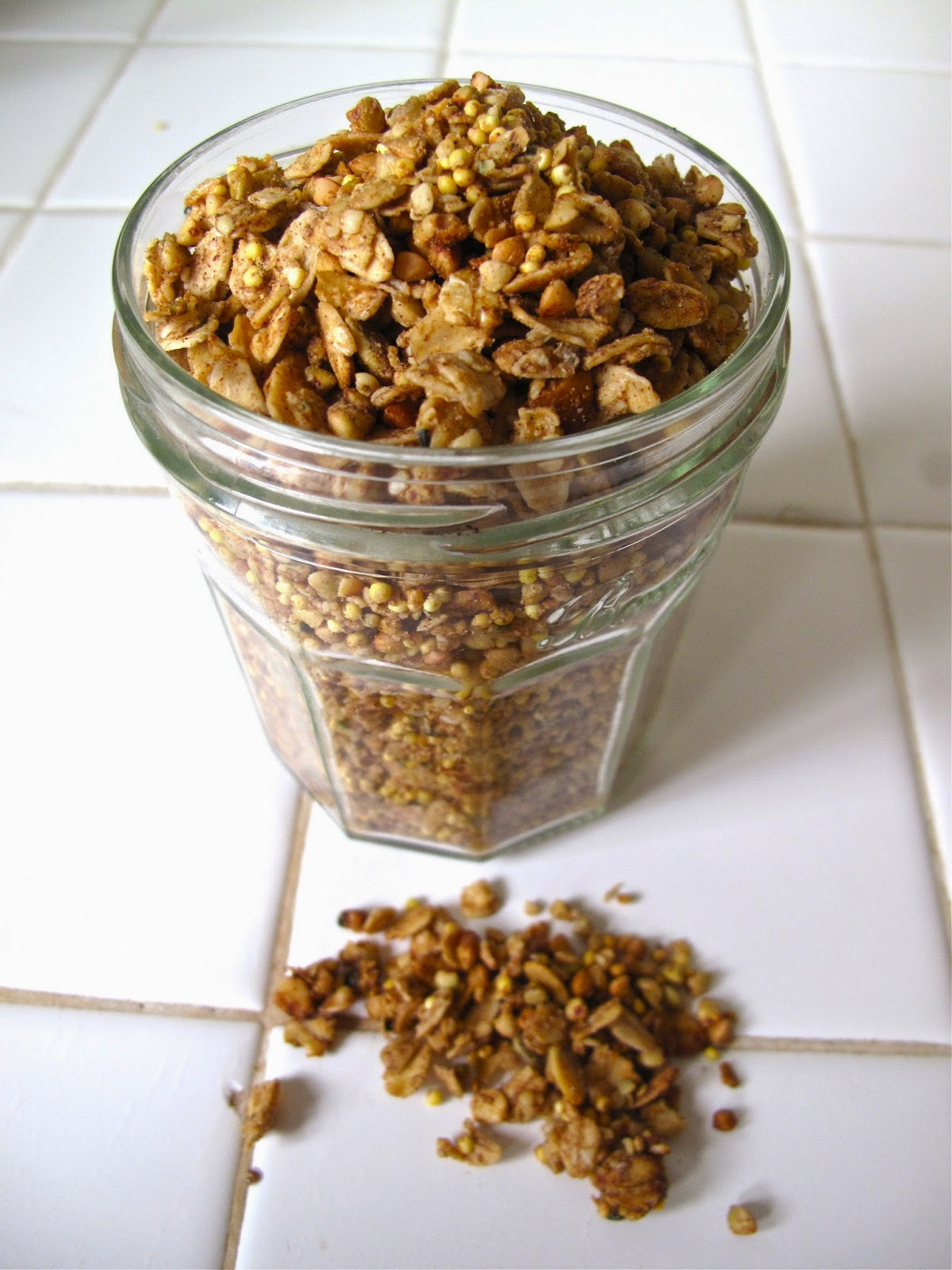 almost vegan: cinnamon + tahini granola