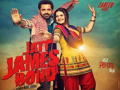 Poster Of Jatt James Bond (2014) Full Punjabi Movie Free Download Watch Online At worldfree4u.com