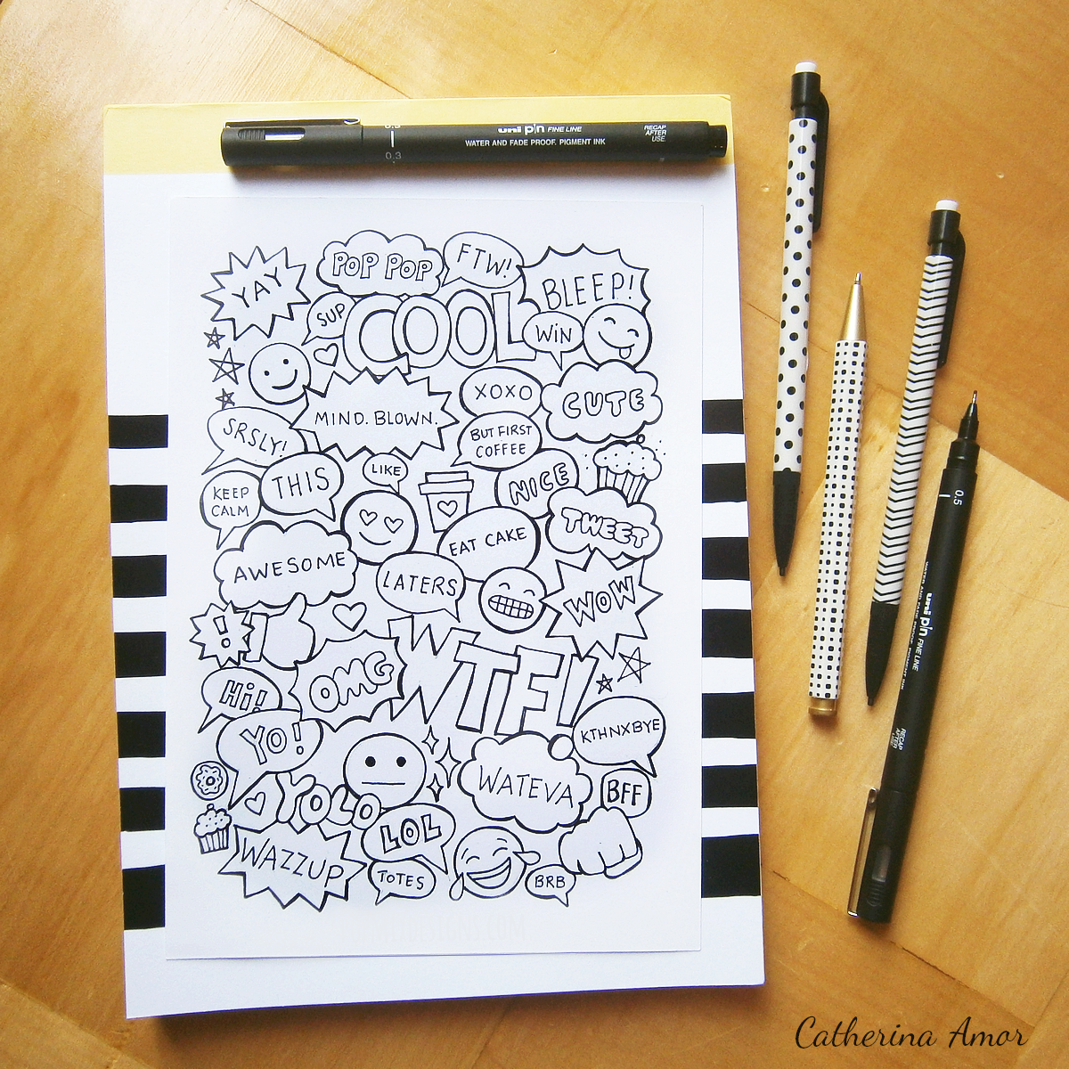 Emoji Doodles by Catherina Amor