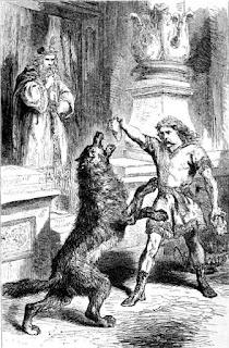 lobo fenrir y tyr- mitologia nordica- vikingos