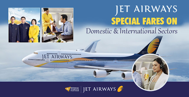 JetAirways Special Fares on Domestic & International Flight