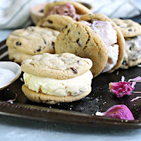 Peanut Butter Chocolate Chip Ice Cream Sandwich Cookies