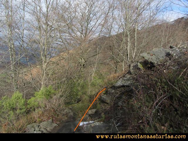 Pico Ranero: Nuevo desvío a la derecha.