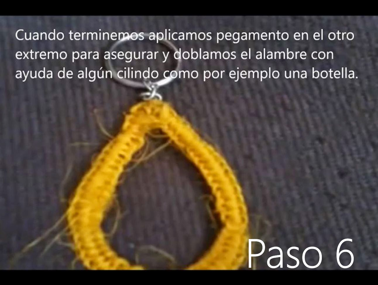 Llavero Lagrima Paso 6