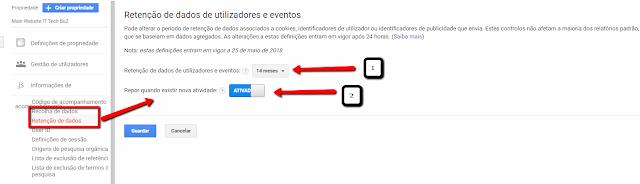 Imagem de configuração do Google Analytics