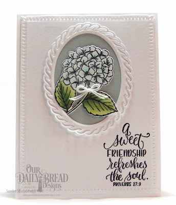 Our Daily Bread Designs Stamp/Die Duos: In My Heart, Paper Collection:  Romantic Roses, Custom Dies: Snowflake Sky, Layered Lacey Ovals, Ovals