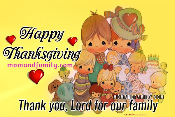 Happy Thanksgiving, Family. Christian Quotes. Nov, 24, 2016. Christian image with thanksgiving prayer, blessings on thanksgiving day by Mery Bracho.
