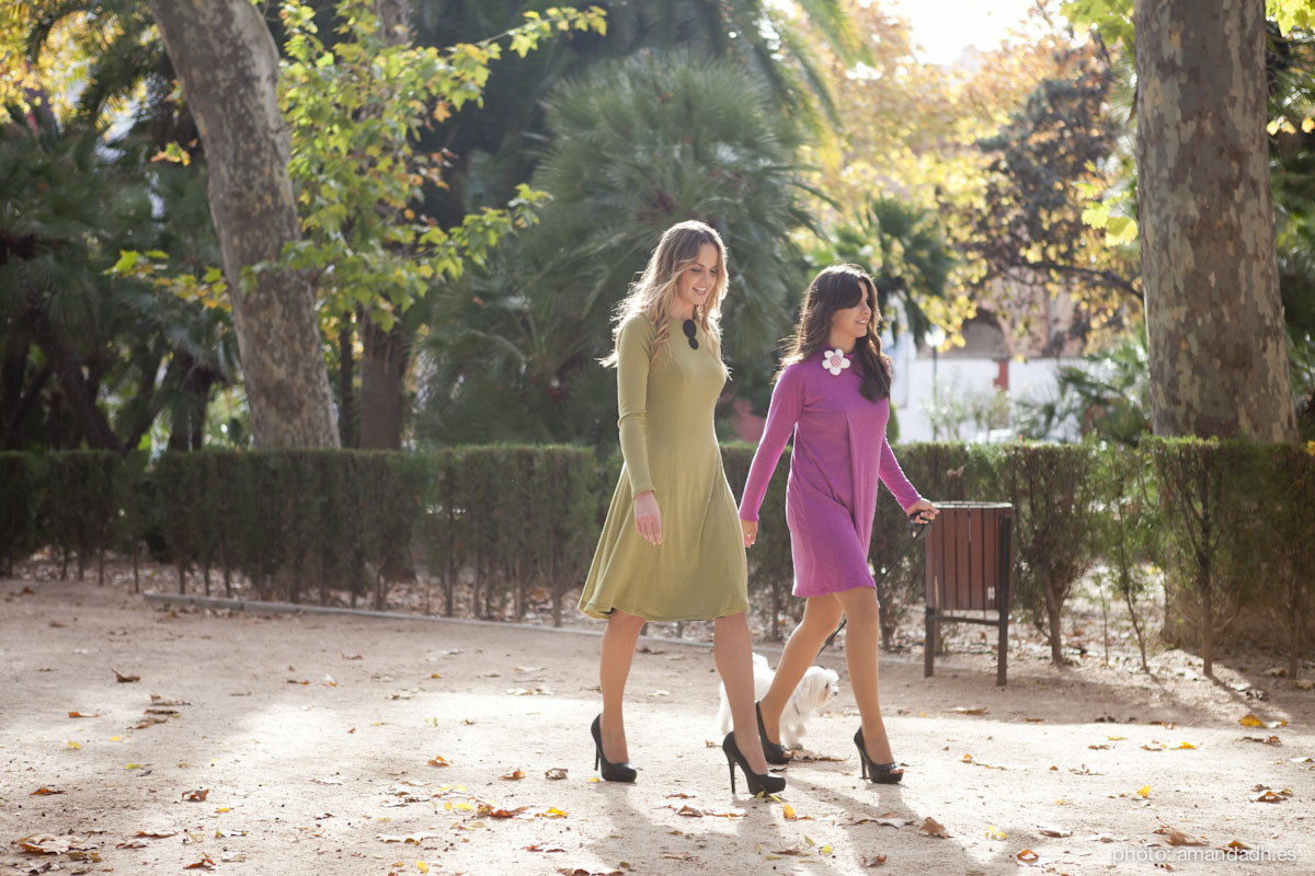 Dresses in the garden - Senorita Martita FALL-WINTER street style by Amanda Dreamhunter - made in Spain