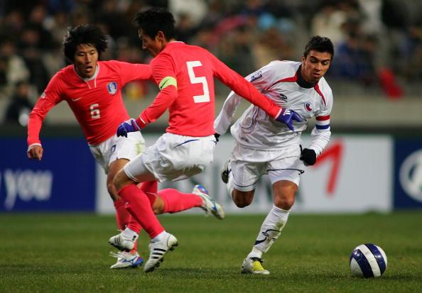 Corea del Sur y Chile en partido amistoso, 30 de enero de 2008