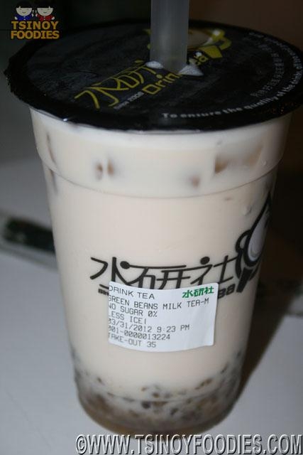 green beans milk tea