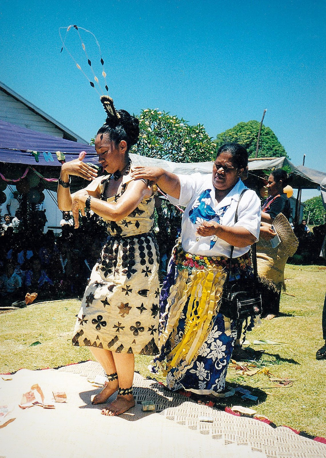 At this Tongan feast, there was also dancing by the birthday girl