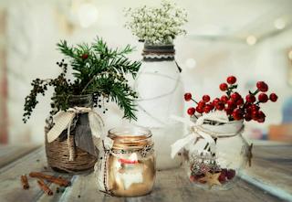 Hũ thủy tinh dư trong nhà - Hãy tận dụng biến thành vật trang trí đẹp