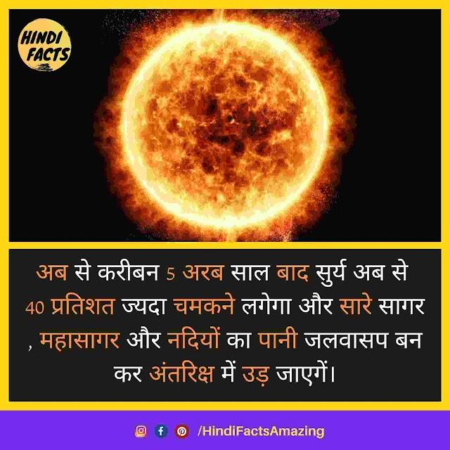 Sun in Hindi - सूरज से जुडी जानकारी और 38 रोचक तथ्य