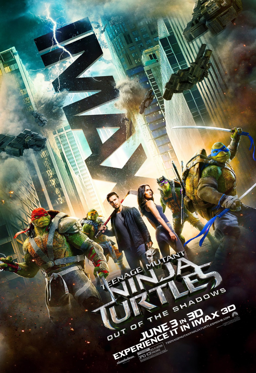 Nonton Film Teenage Mutant Ninja Turtles: Out of the Shadows (2016)