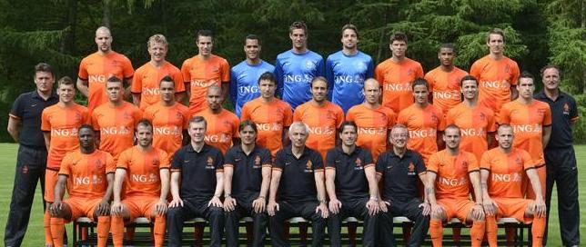 Daftar Lengkap Pemain Team Holland Belanda di Piala Euro 2012