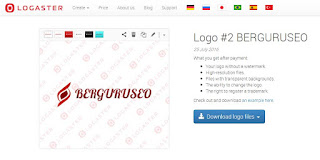 proses download logo