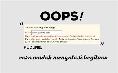 Cara Mengatasi Error Saat Verifikasi Domain TLD