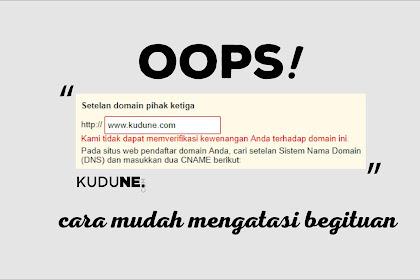 Cara Mengatasi Error Saat Verifikasi Domain TLD (Blogger Blogspot Masuk)