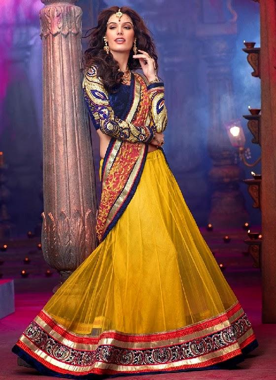 South Asian Georgette Lehenga Choli Collection 2014