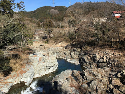 石舟橋から見た秋川渓谷