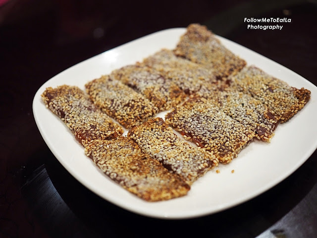 Pan-fried Glutinous Rice Cake with Sesame Seeds