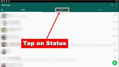 WhatsApp Text Status Update - status