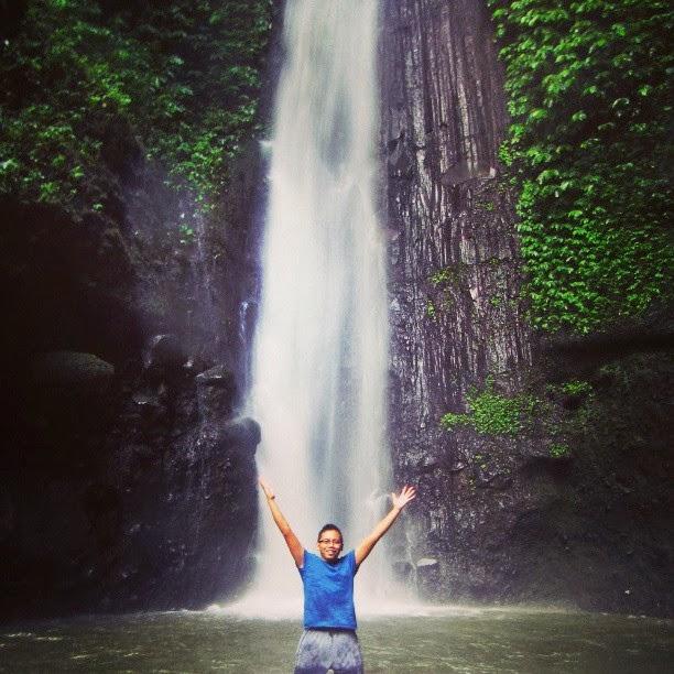 Air terjun Jeruk Manis Tetebatu Lombok Tengah