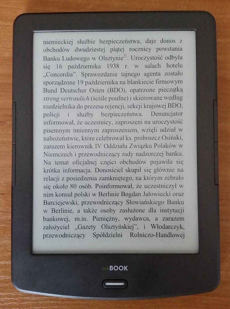 InkBOOK Classic 2 po 29 zmianie strony bez pełnego odświeżania. Tekst pozostaje czytelny