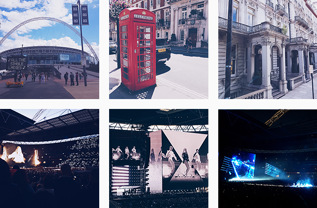 This collage is showing some impressions from our vacation in London.