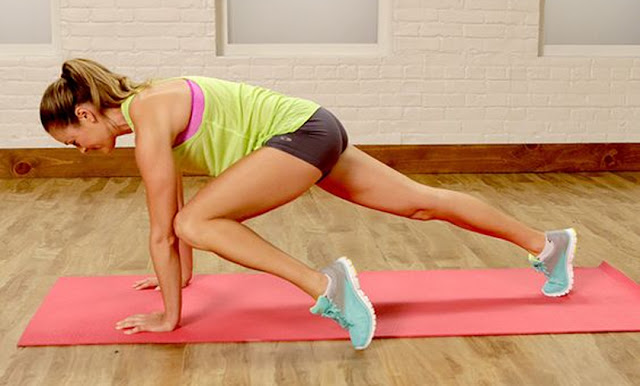 Anna Renderer for Popsugar Fitness, Stretching, Workout, Bodyweight