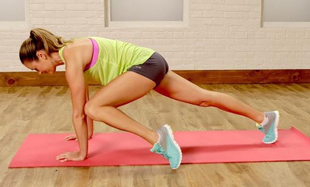 Anna Renderer for Popsugar Fitness, Stretching, Workout, Bodyweight