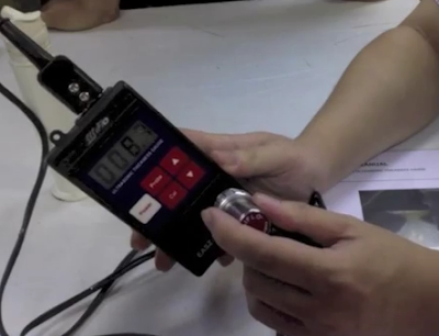 Calibrator ultrasonik thickness gauge
