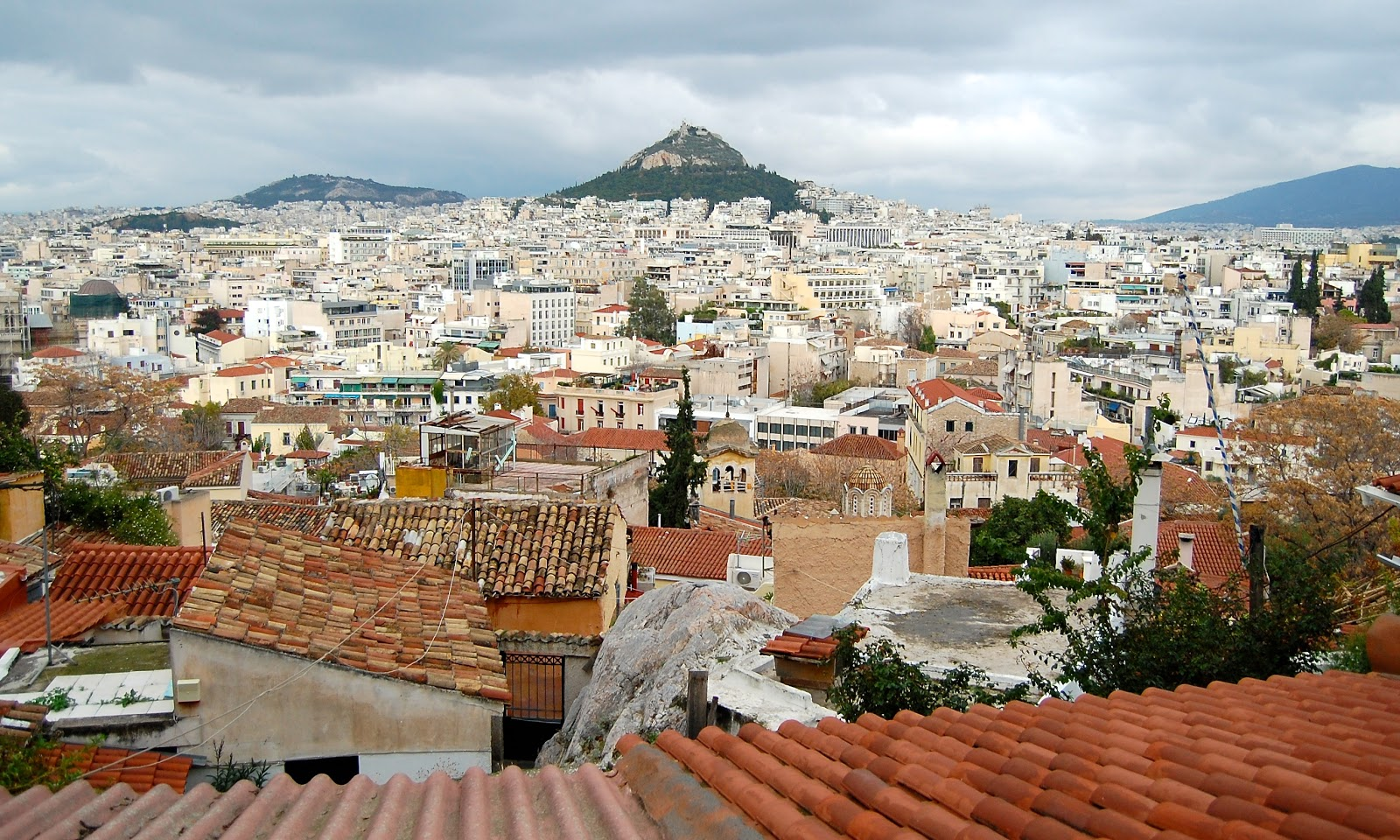 A view of Athens from Anafiotika at the base of the Acropolis