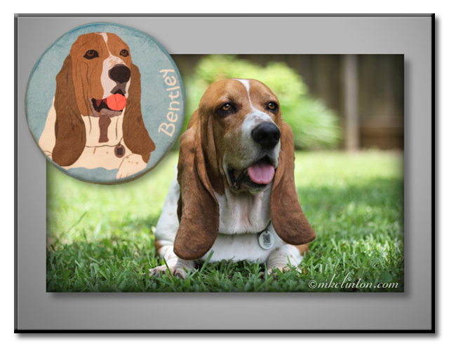 PrideBites made a fabulous likeness of Bentley Basset Hound on his customized toy