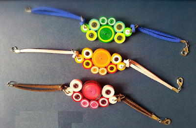 3 different style of  quilling bracelet designs for girls - quillingpaperdesigns