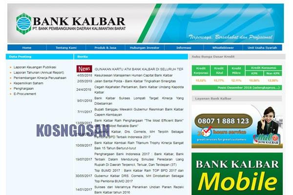 Daftar Internet, Mobile, Sms Banking Bank Kalbar-Kalimantan Barat
