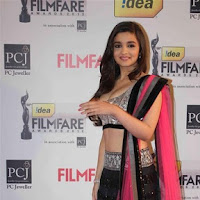 Alia bhatt in lahanga looking really cute and sexy