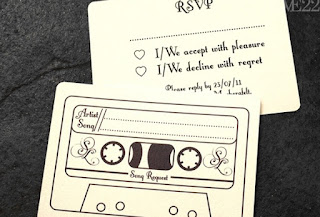 music wedding invitation idea