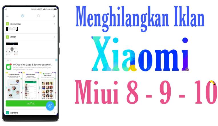 Update ! Cara Menghilangkan Iklan di HP Xiaomi MIUI 9 dan 10 Dijamin 100% Work