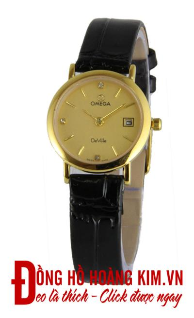 mua đồng hồ nữ omega dây da