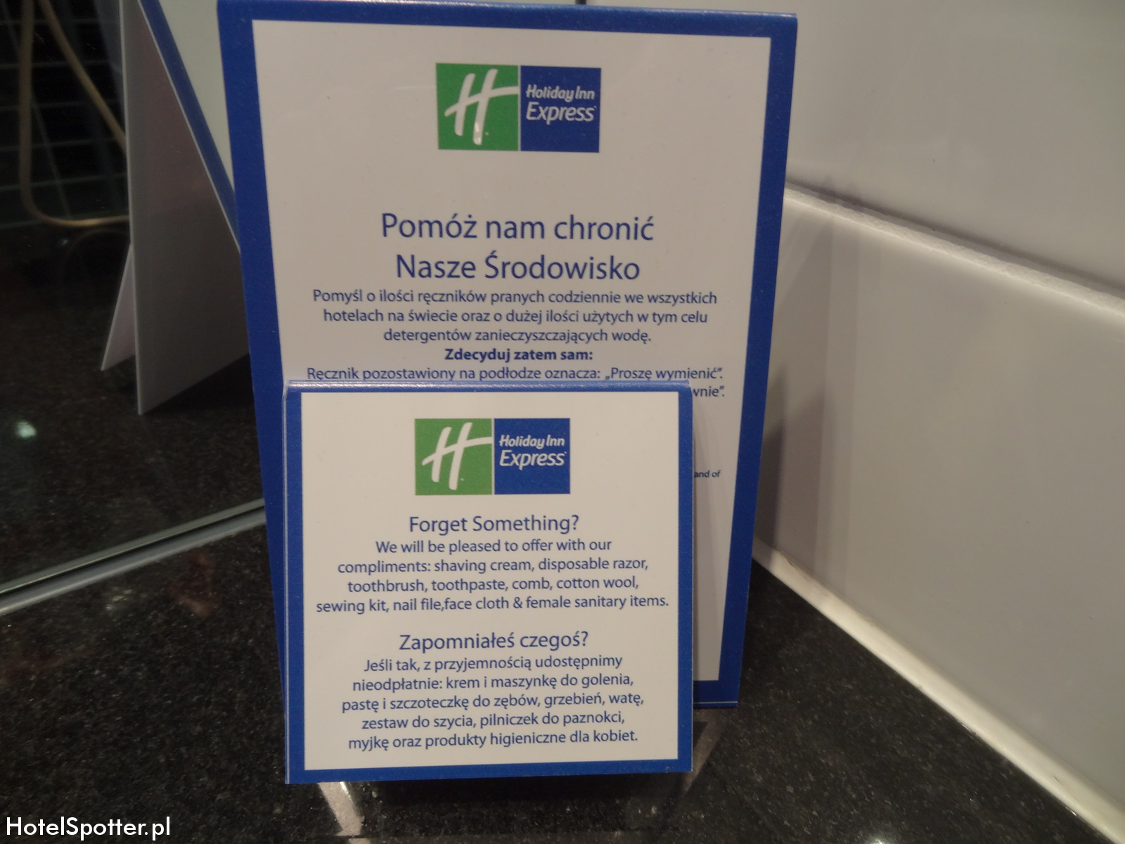 Holiday Inn Express Warsaw Airport przybory toaletowe