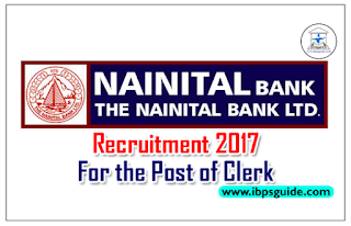 Nainital Bank Recruitment 2017 for the Post of Clerk – Fresher Also Can Apply
